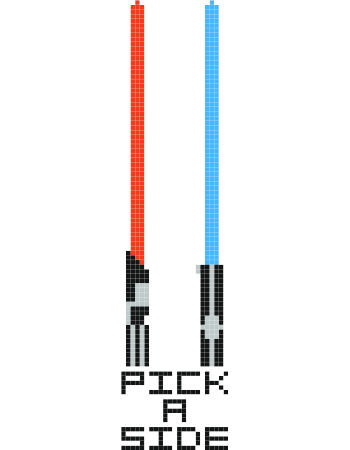 clip freeuse stock Lightsaber clipart minecraft. Pick a side hama.