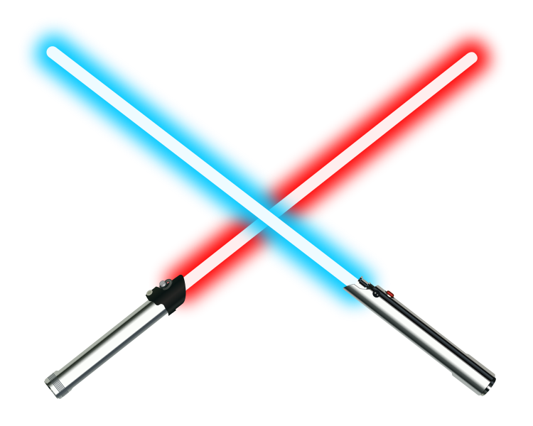 picture black and white download Lightsaber clipart red. File dueling lightsabers svg.