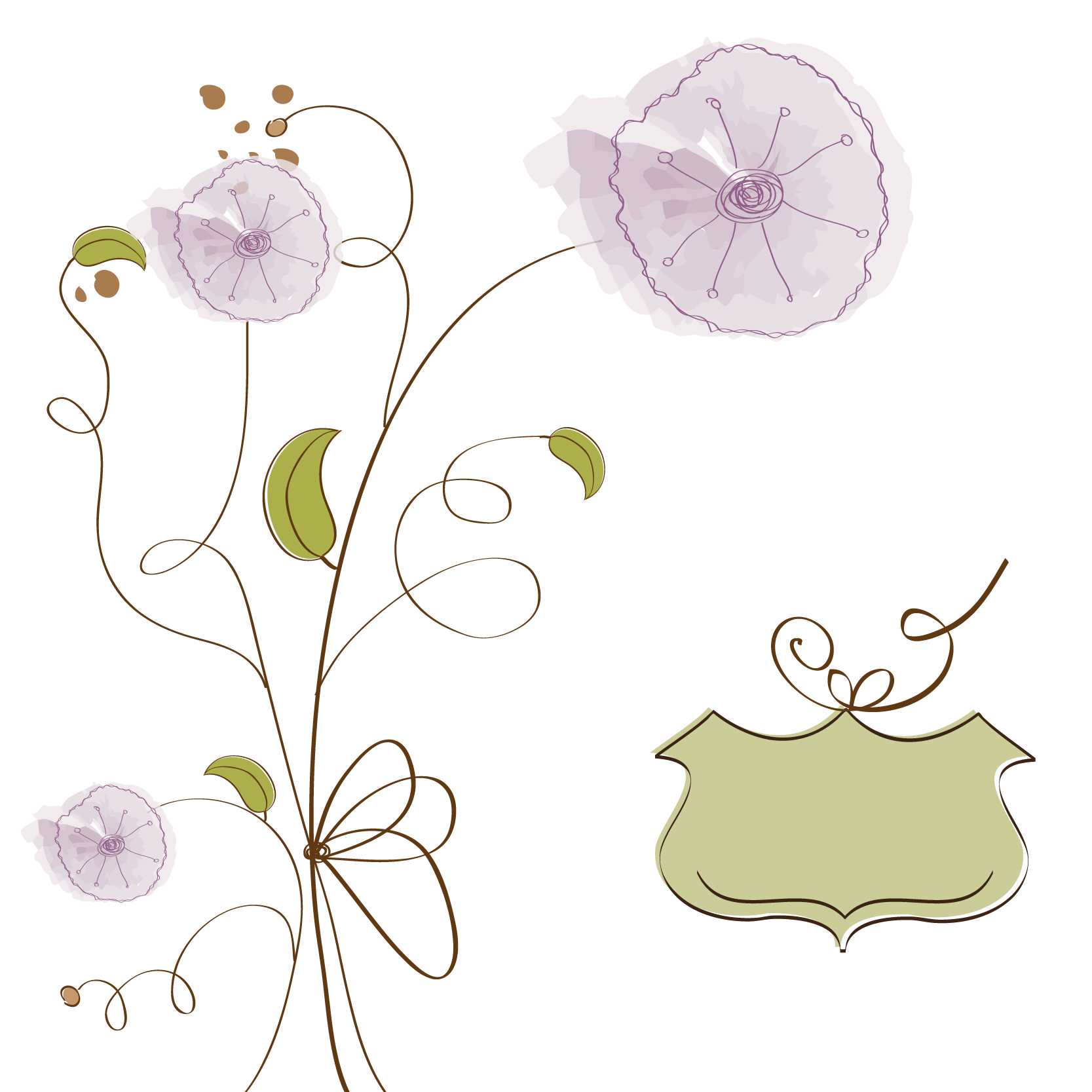 picture transparent library Flower Drawing Clip art