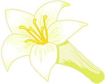 clipart black and white library Lily clipart. Free cliparts download clip.