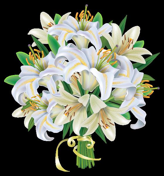 clipart transparent download White lilies flowers png. Lily clipart flower bouquet.