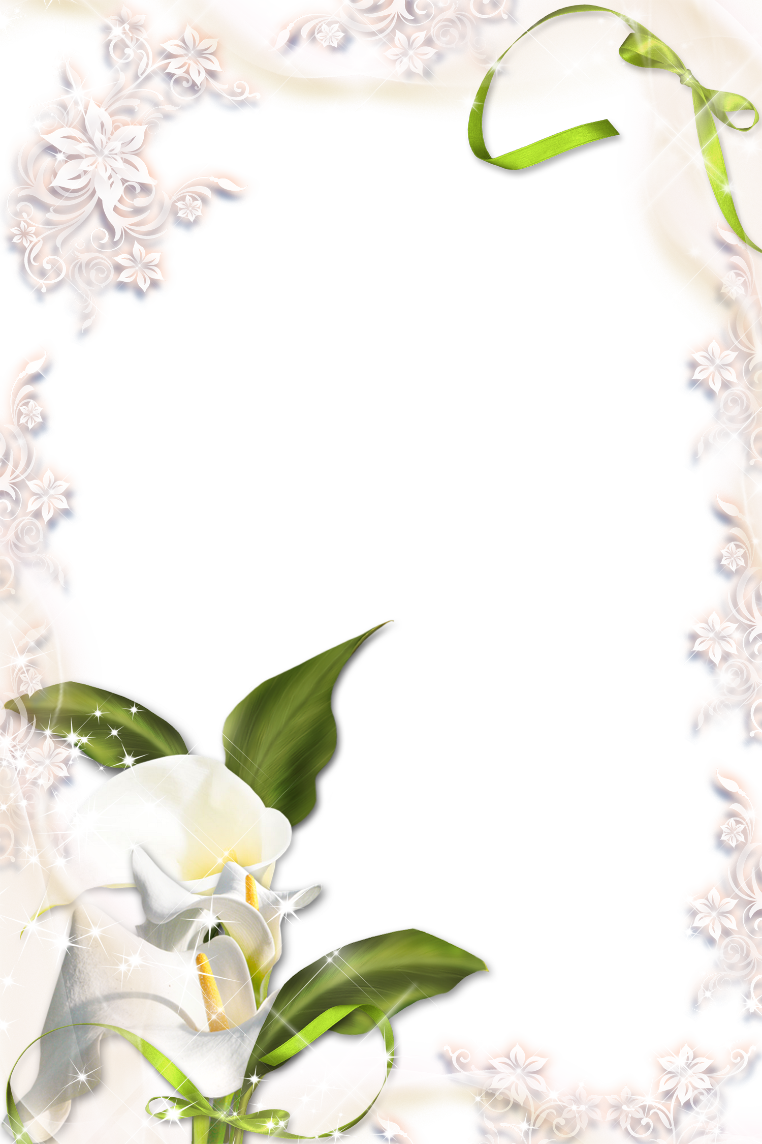 image black and white stock Transparante calla png photo. Lilies clipart frame.