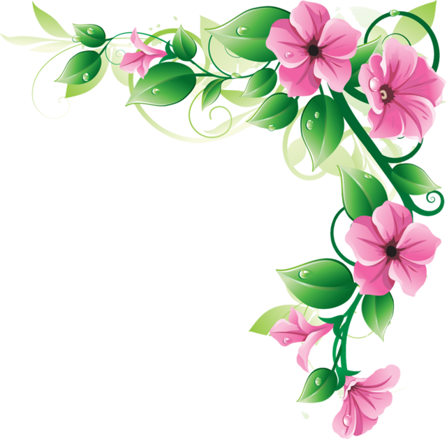svg freeuse stock Flowers Borders PNG Transparent Flowers Borders