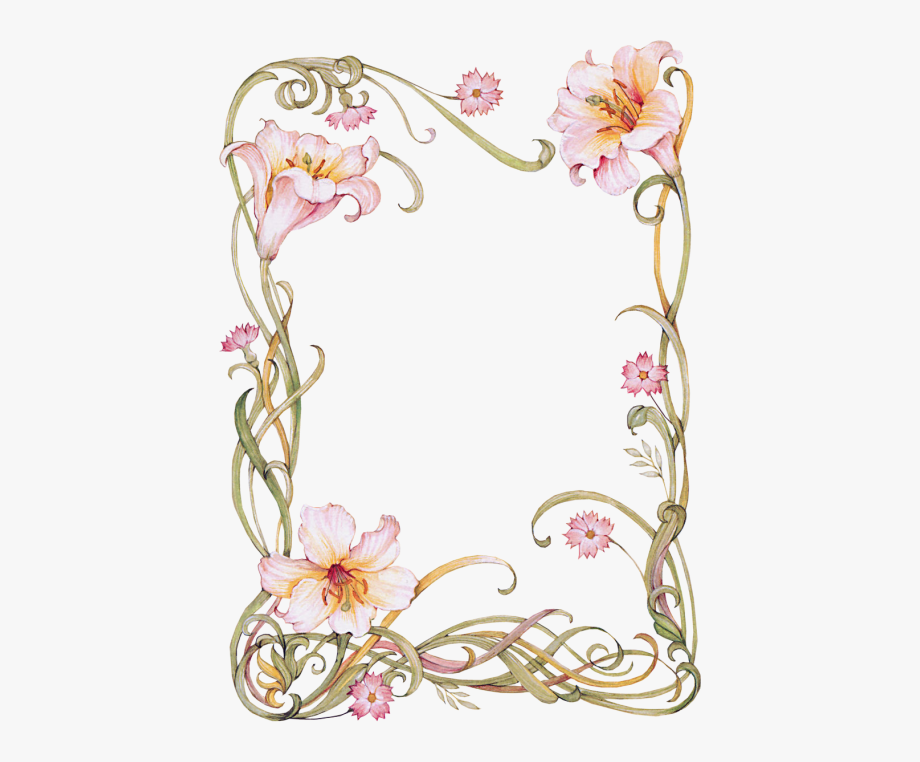 vector Lilies clipart frame. Flowers lily .