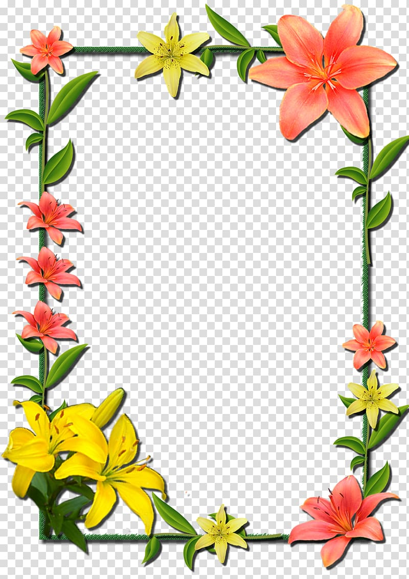 clipart royalty free stock Orange and lily flower. Lilies clipart frame.