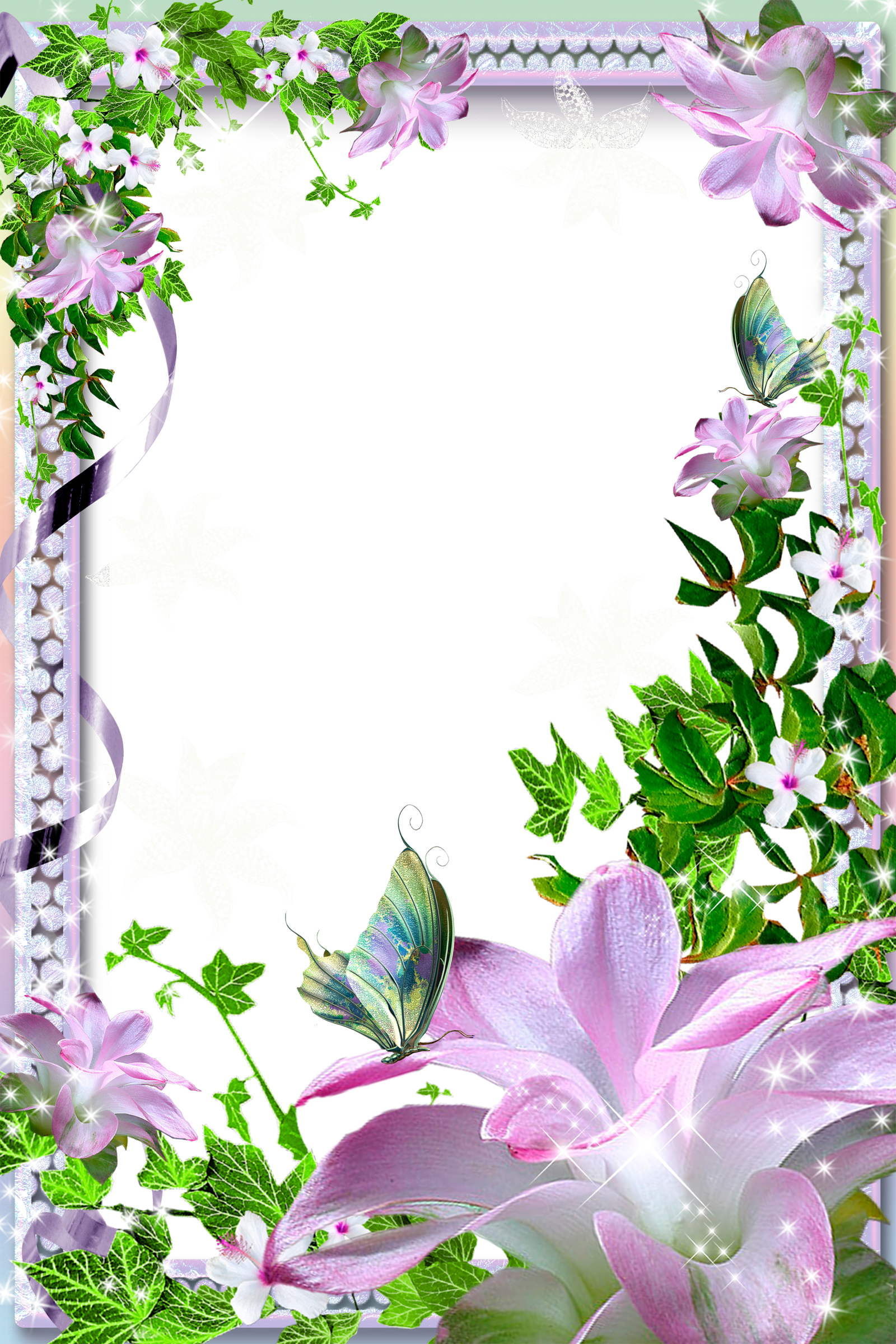image library download Lilies clipart frame. Transparent png photo with.