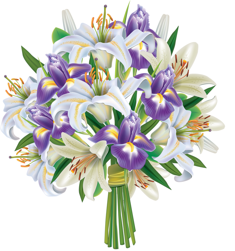 clip freeuse stock  soloveika clip art. Lily clipart flower bouquet.