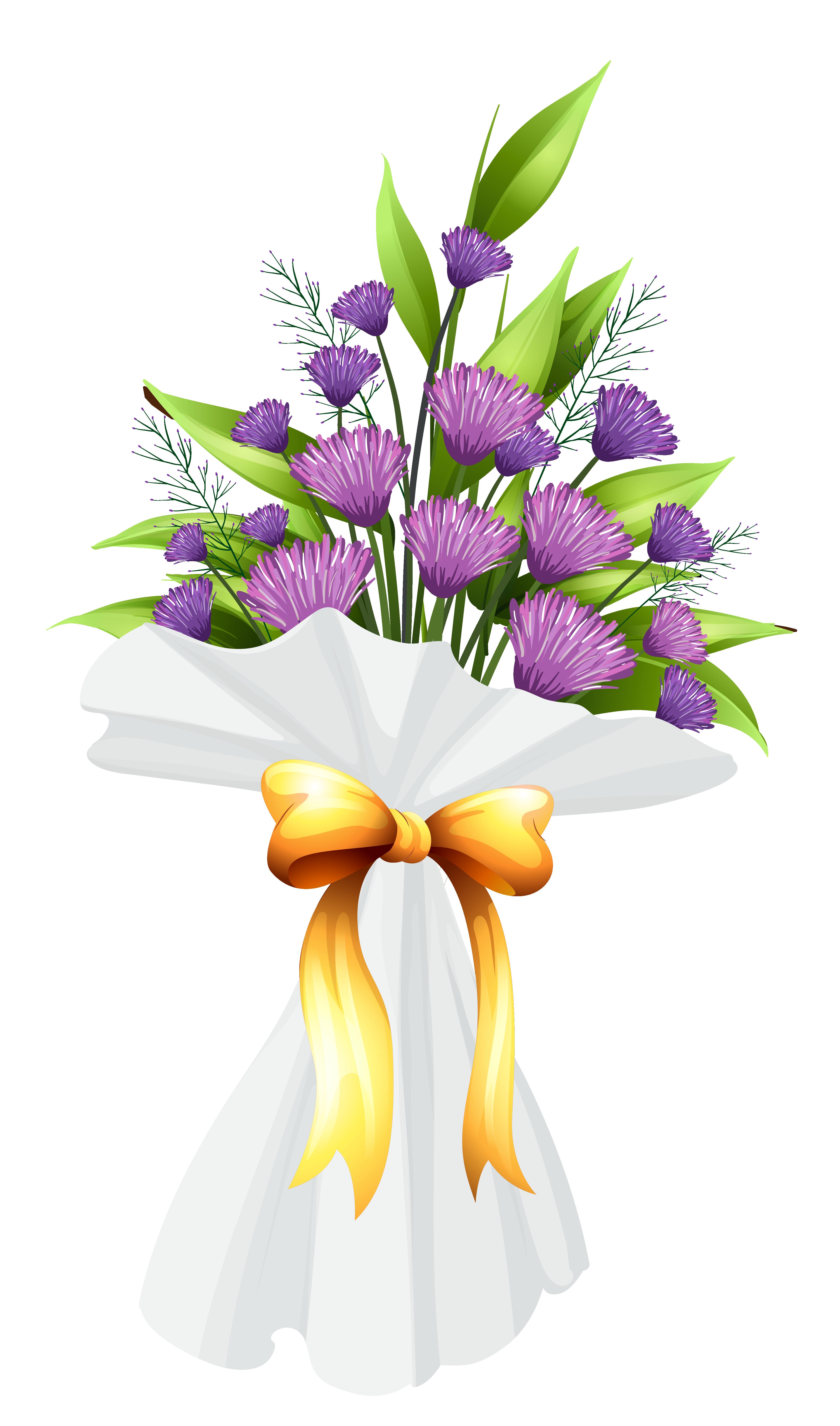 transparent stock Lily clipart flower bouquet. Purple flowers png image.