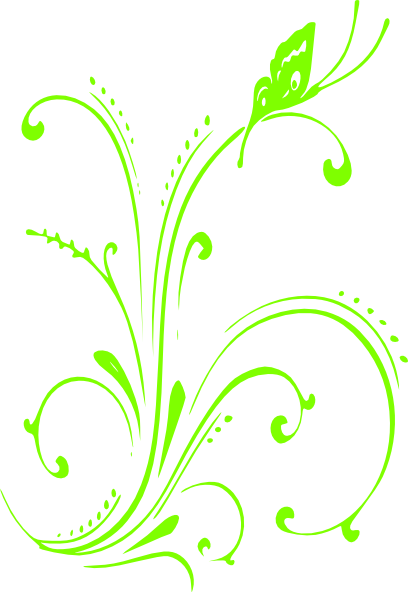 svg transparent library Lime clipart black and white. Green scroll clip art