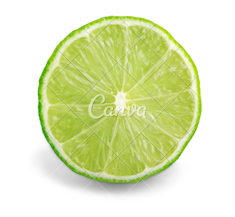 download Citrus Lime Fruit Half Isolated on White Background Cutout