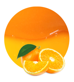 black and white Orange Juice Concentrate