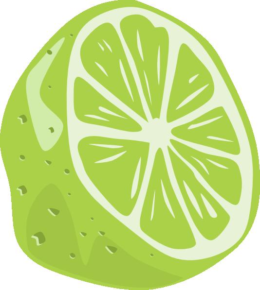 jpg black and white Half Lime Clip Art at Clker