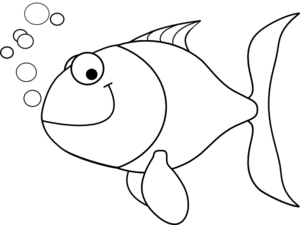 vector free library Fish Outline Clip Art at Clker