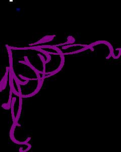vector download Line clipart purple. Corner flower .