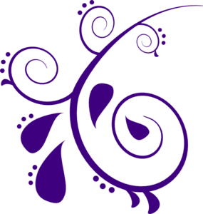 library Paisley clip art at. Line clipart purple.
