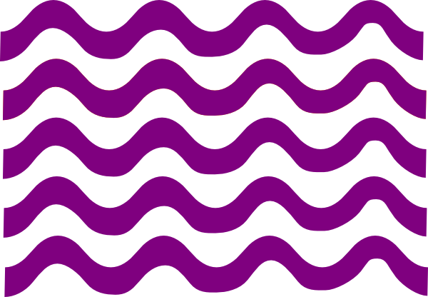 graphic free library Wave lines clip art. Line clipart purple.