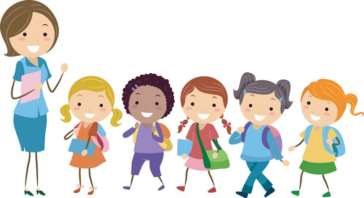 jpg free Teacher and students clipart. Logic line up curriculum