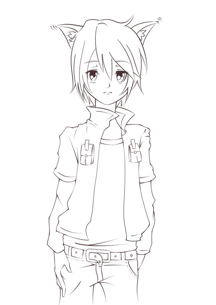 png free library Lineart drawing boy. Pin on guys