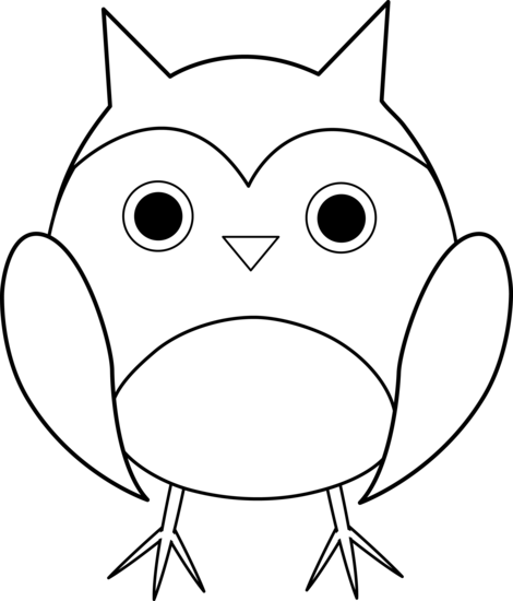 picture Cute line art free. Drawing owl kid