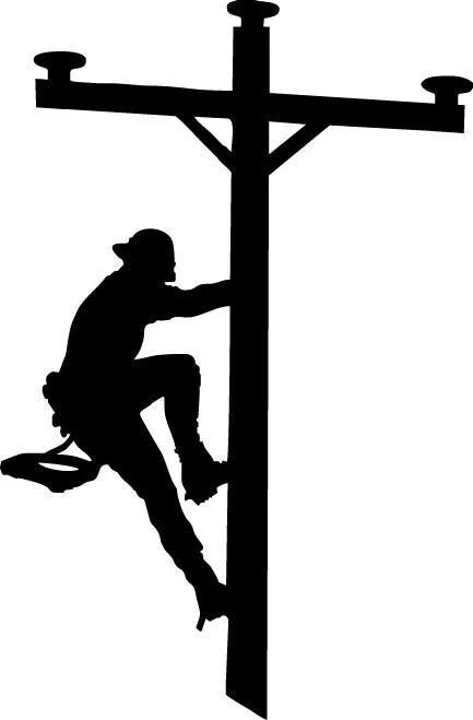 clip art stock Pin by anne on. Lineman svg climbing pole