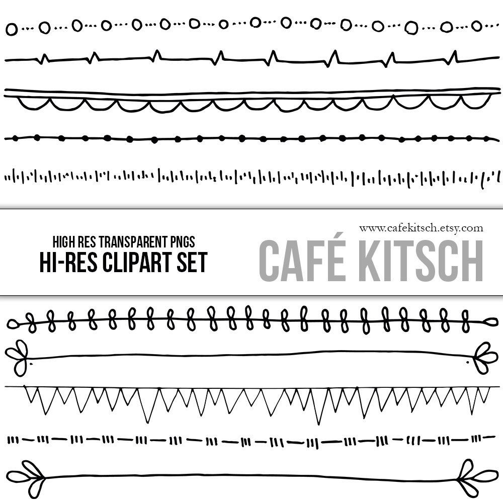 picture royalty free stock Lines clipart doodle. Instant download border clip.