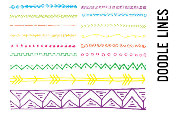jpg freeuse Lines clipart doodle. Free line cliparts download.