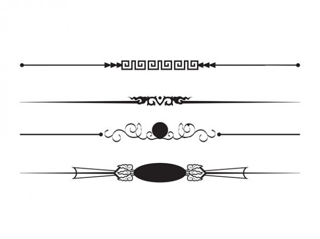 vector black and white library Line clip art cliparts. Free clipart borders and lines