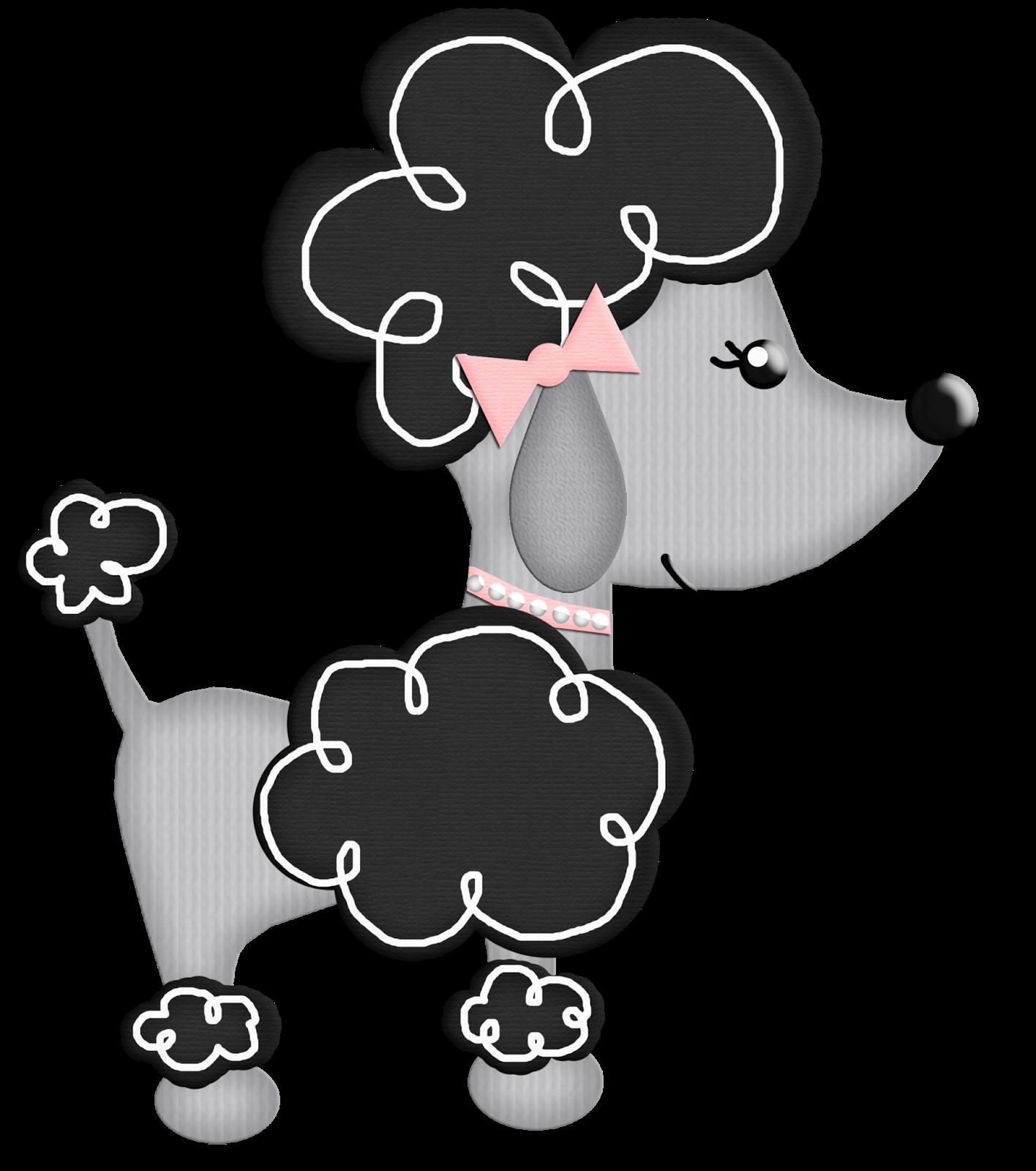 graphic free download Bello chic paris cumple. Poodle clipart black and white.