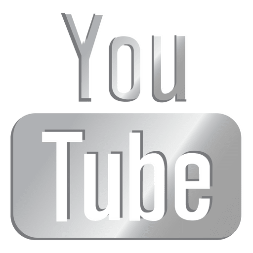 svg free download Youtube silver icon