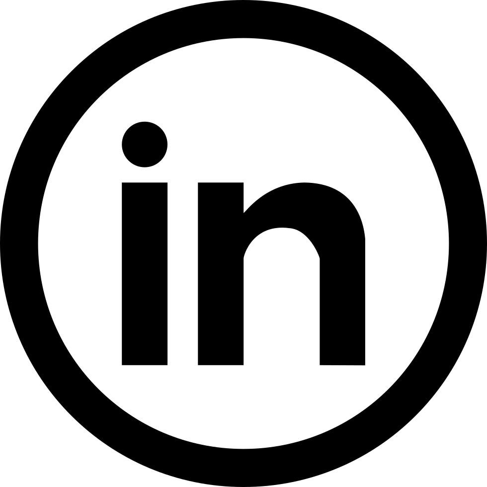 jpg black and white library Social Linkedin Svg Png Icon Free Download