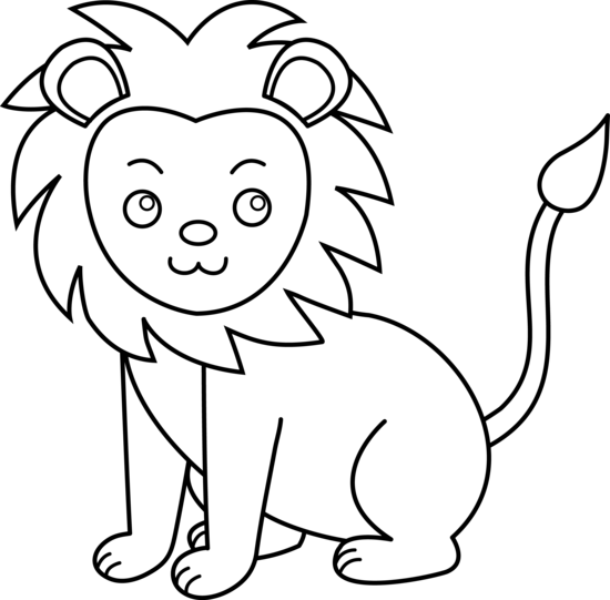 clip art library library Lion black and white clipart. Cute letters format clip.