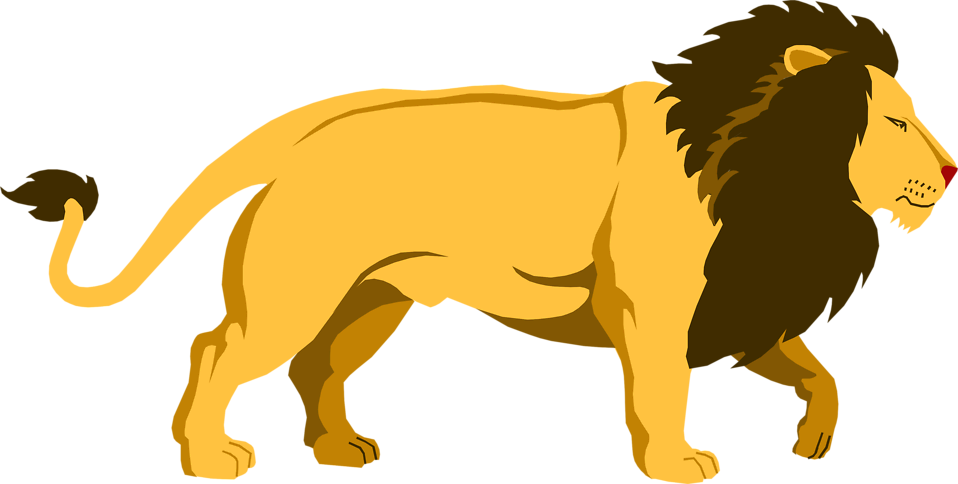 png freeuse stock Lions clipart. Pleasurable walking lion clipartxtras