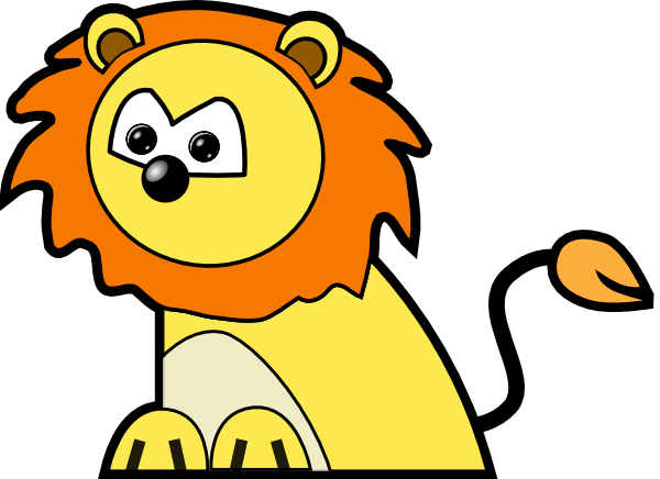 black and white stock March clipart lion lamb. Circus panda free images.