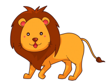royalty free To use public domain. Lion clipart cute.