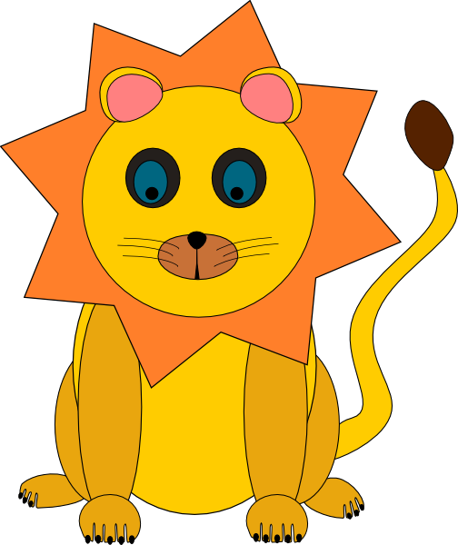 clipart royalty free download Lion clipart cute. Head panda free images.