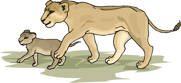 image royalty free download Lion clipart forest. Free lioness with her.
