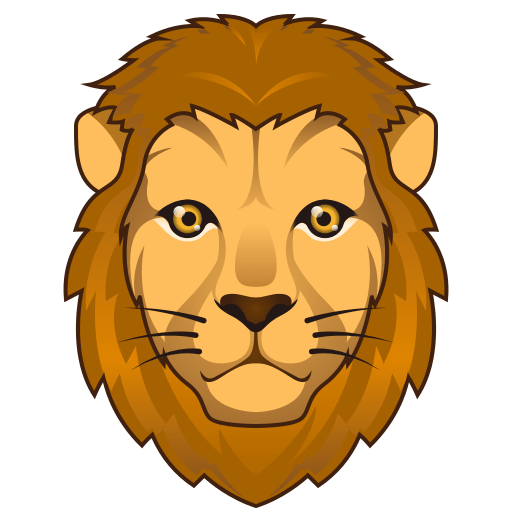 graphic black and white library Lion clipart muscular. Emoji free on dumielauxepices.