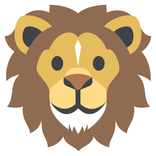 graphic black and white library Emoji free on dumielauxepices. Lion clipart muscular.