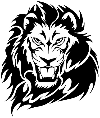 clip black and white aztec drawings of lions