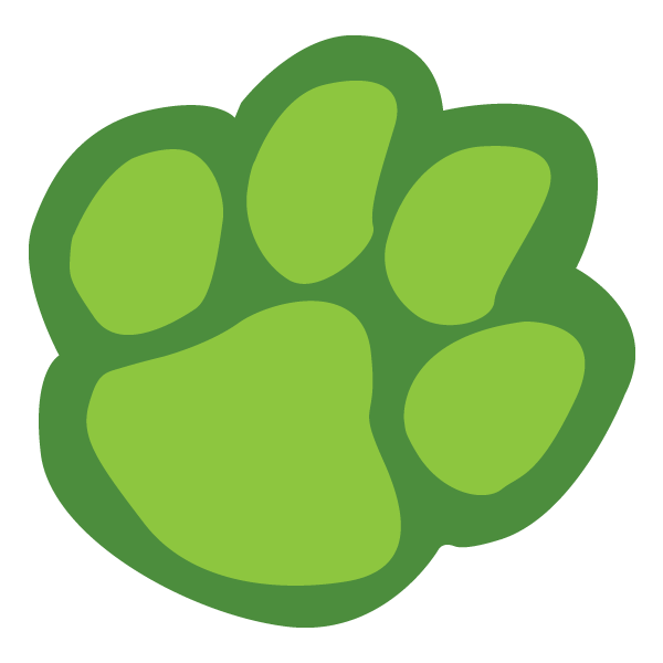 clip art freeuse download Lions Paw Green Clipart