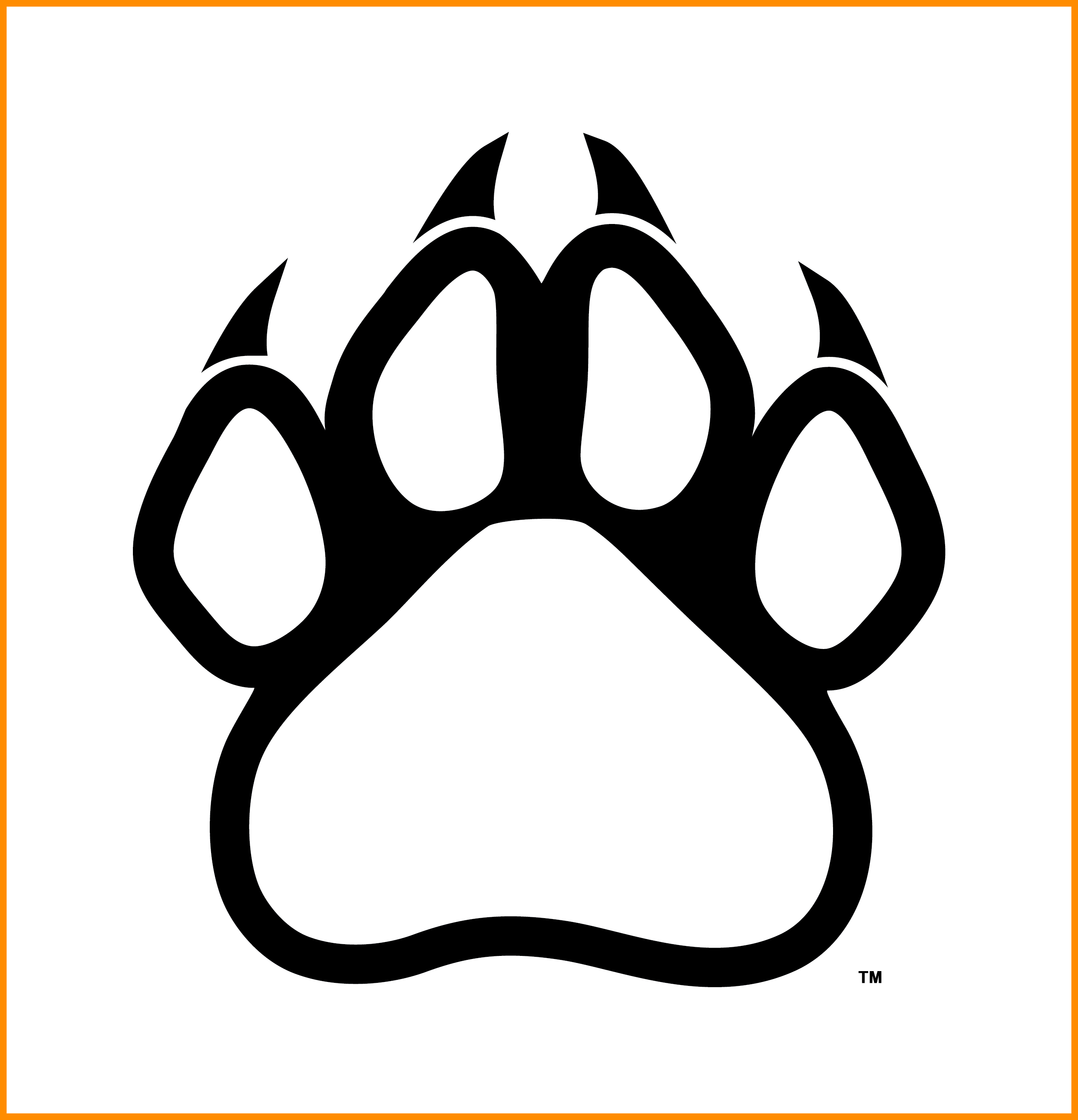 picture freeuse Best Wolf Silhouette And For Lion Paw Clipart Styles Trends Lion Paw