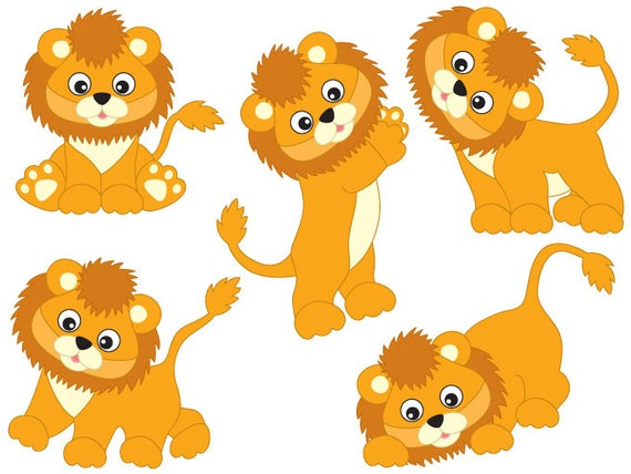 clipart Lions clipart. Digital vector safari african