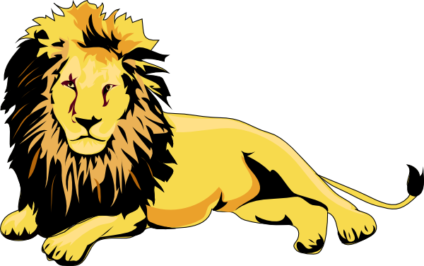 png royalty free library Lions clipart. Lounging lion clip art