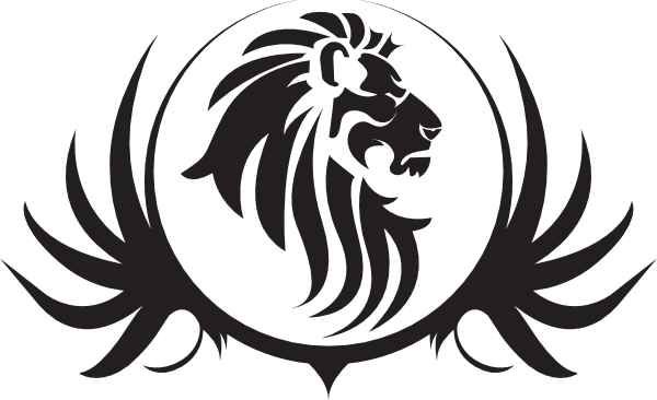 picture black and white download Lions clipart monarch. Detroit logo stencil coffee