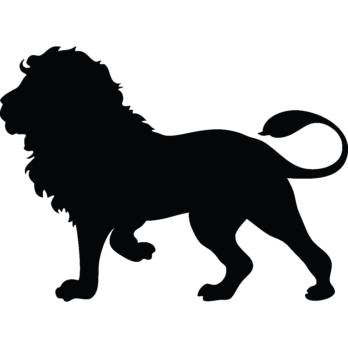 graphic transparent library Sticker Silhouette lion majestueux
