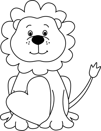 clipart free stock Cute Lion Clipart Black And White