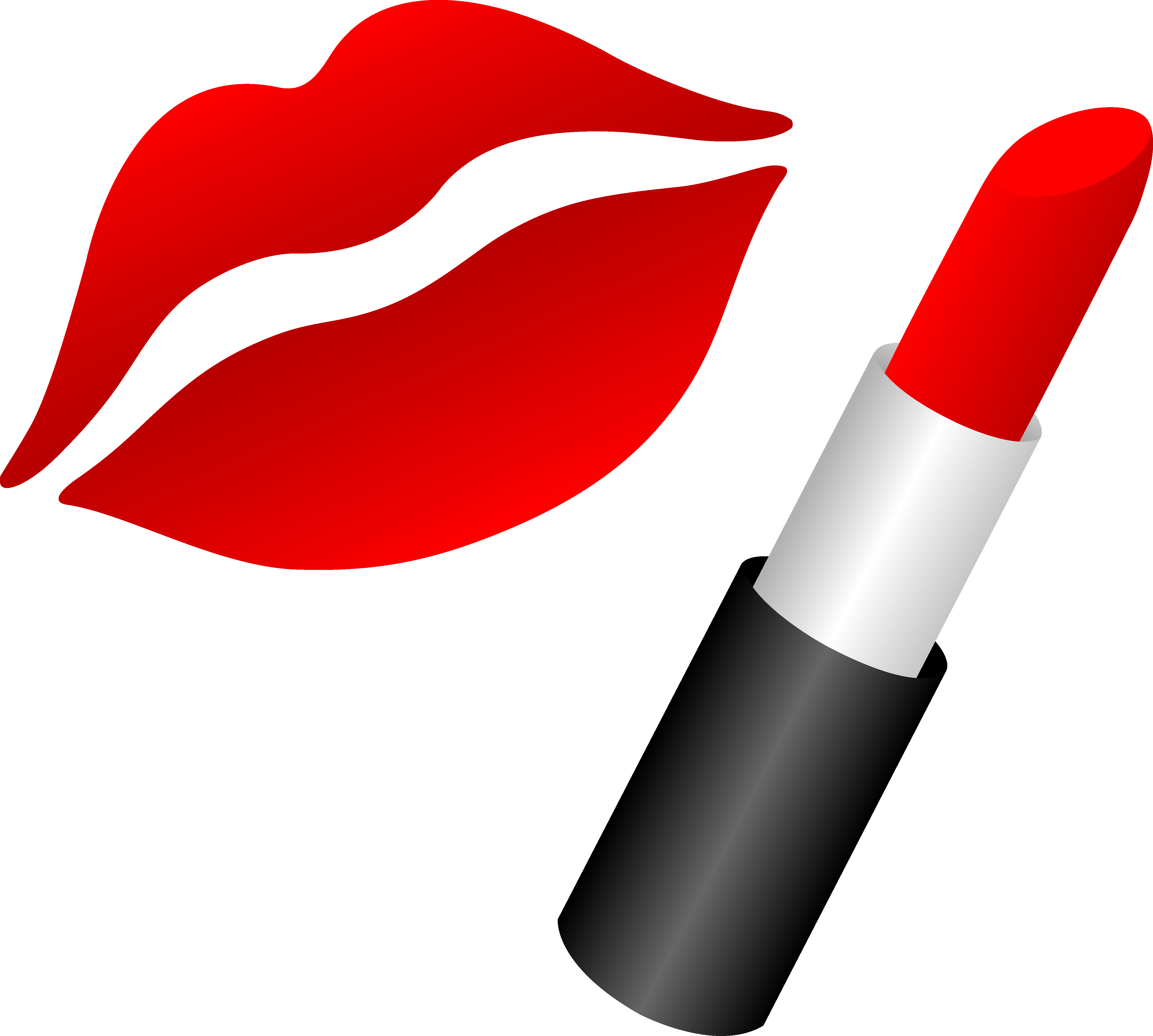 vector download Lip clipart. Lips with red lipstick.