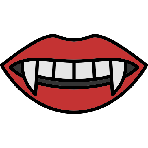 graphic library library Lip clipart halloween. Fear terror lips spooky.