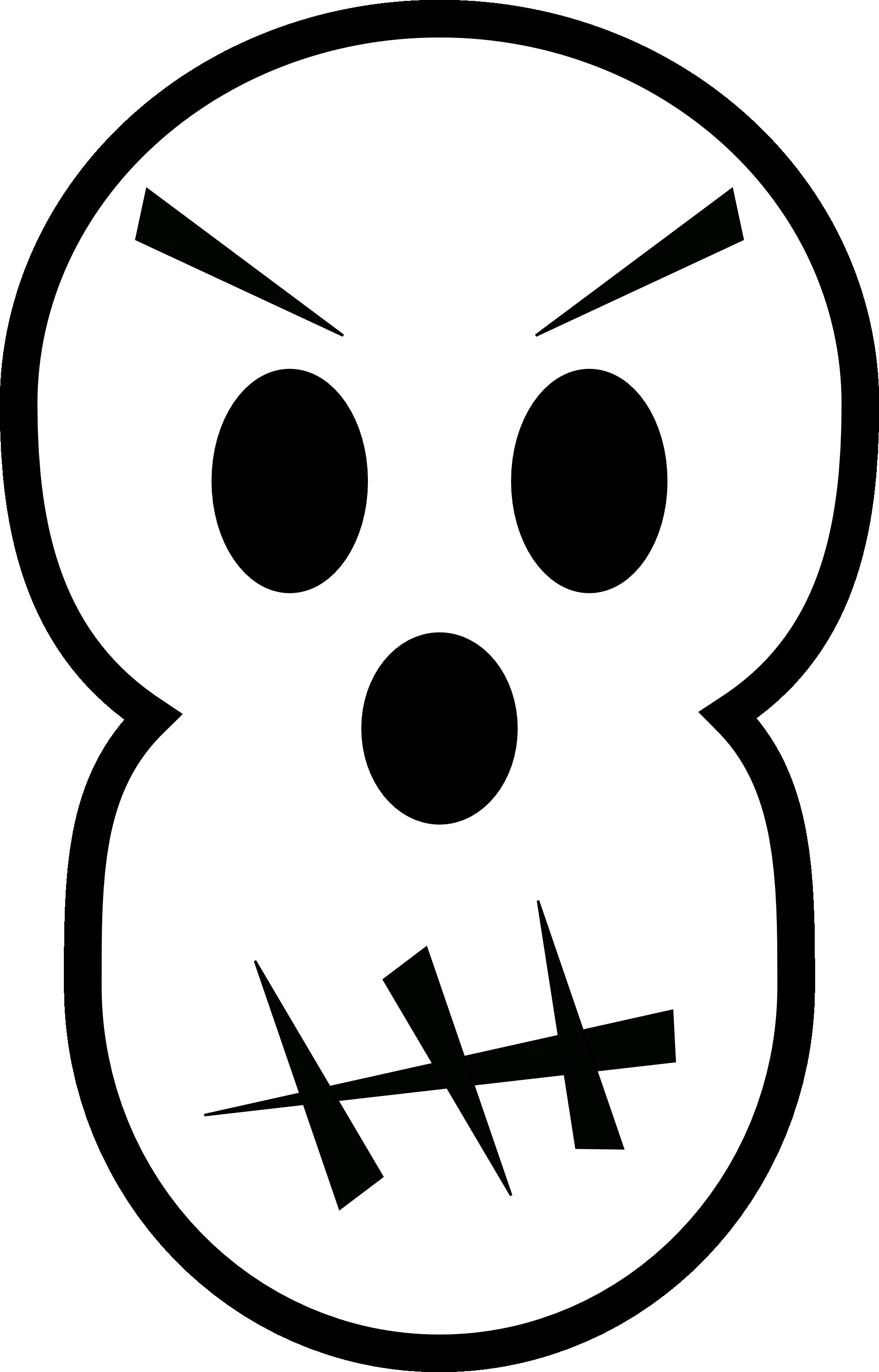 svg transparent Black white line panda. Lip clipart halloween.