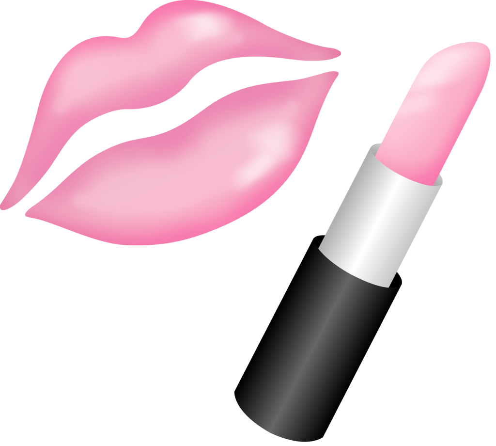 svg stock Lipstick clipart object. Lips makeup free on.
